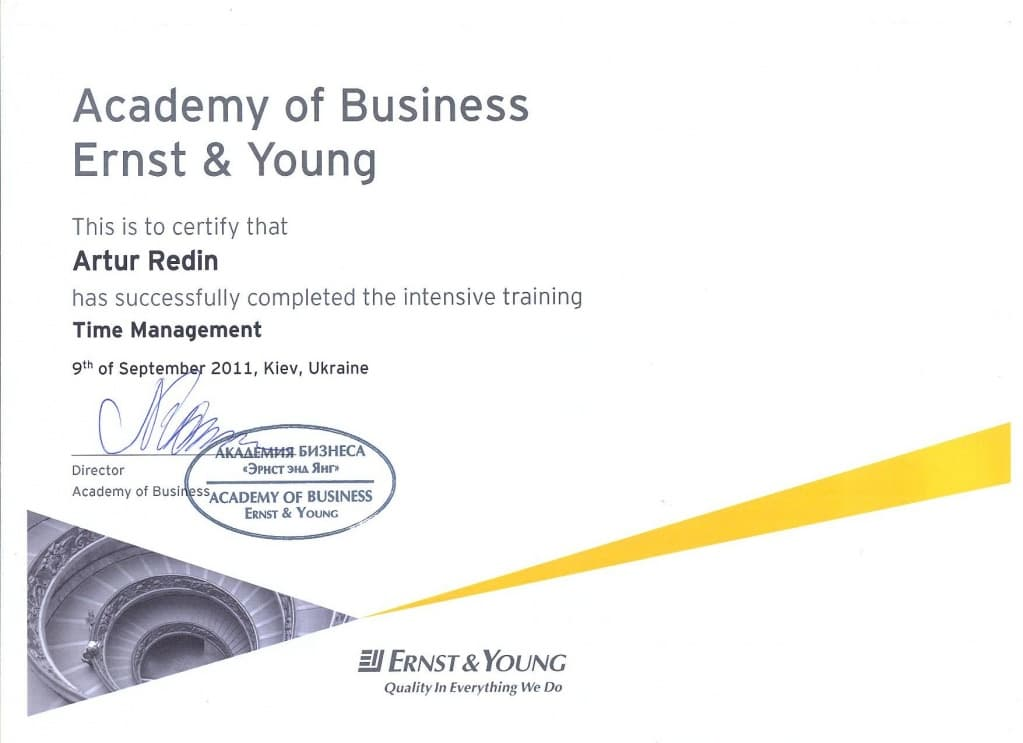 Academy of Business Ernst & Young 2